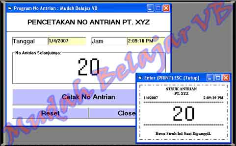 Program Nomor Antrian